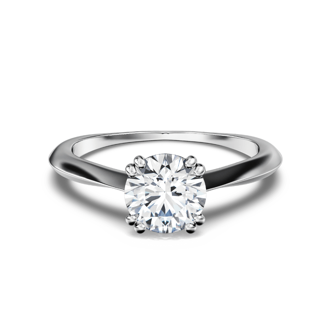 Delicate Knife Edge Solitaire