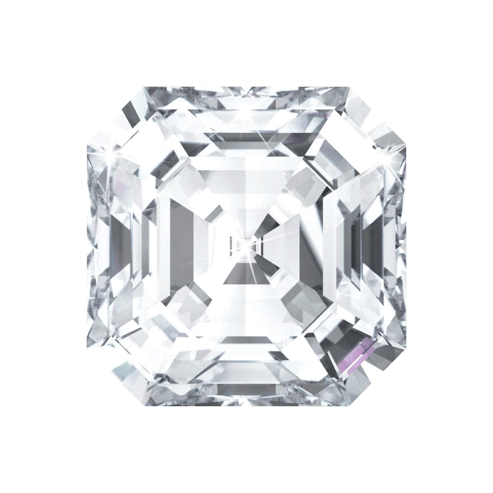 3.07 ct Asscher Lab Grown Diamond
